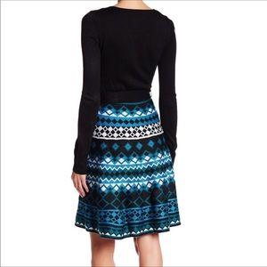 Eliza J Diamond Skirt Knit Dress